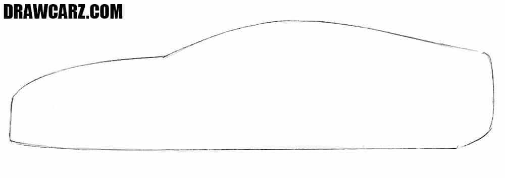 How to draw a Lexus car