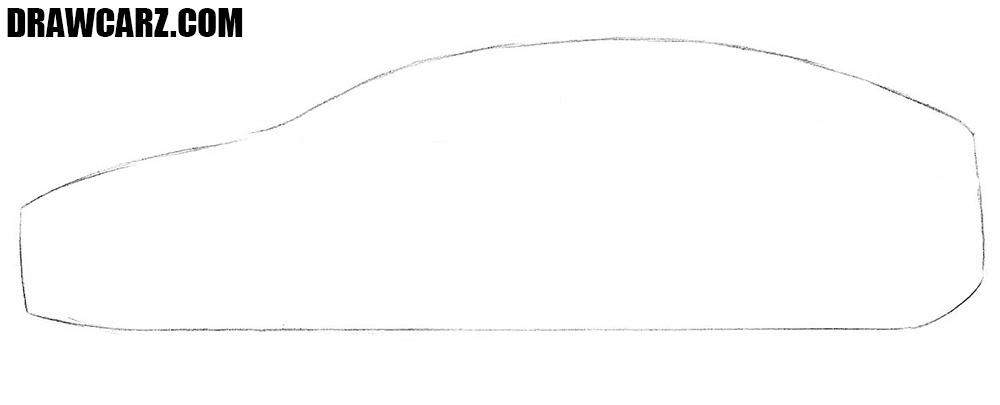How to draw a Tesla Model X step by step