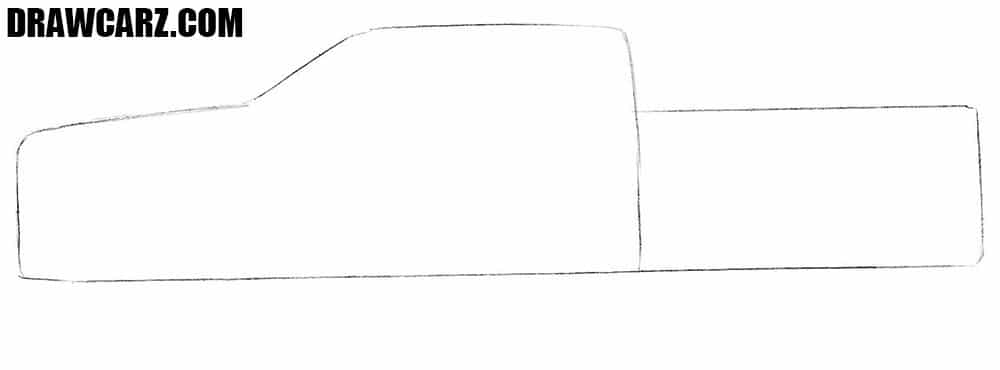 How to draw a pickup car