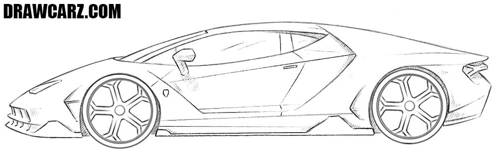How to draw a Lambo