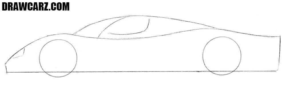 How to draw a Maserati car