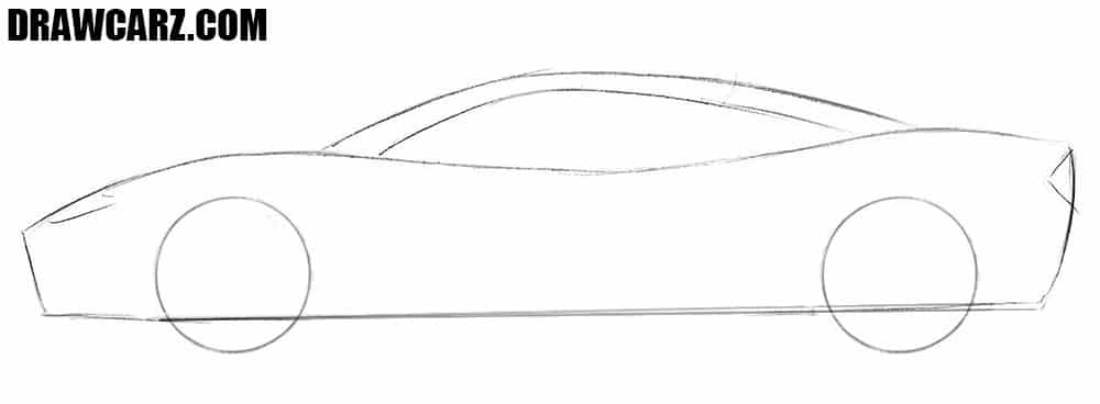How to draw a Spyker car