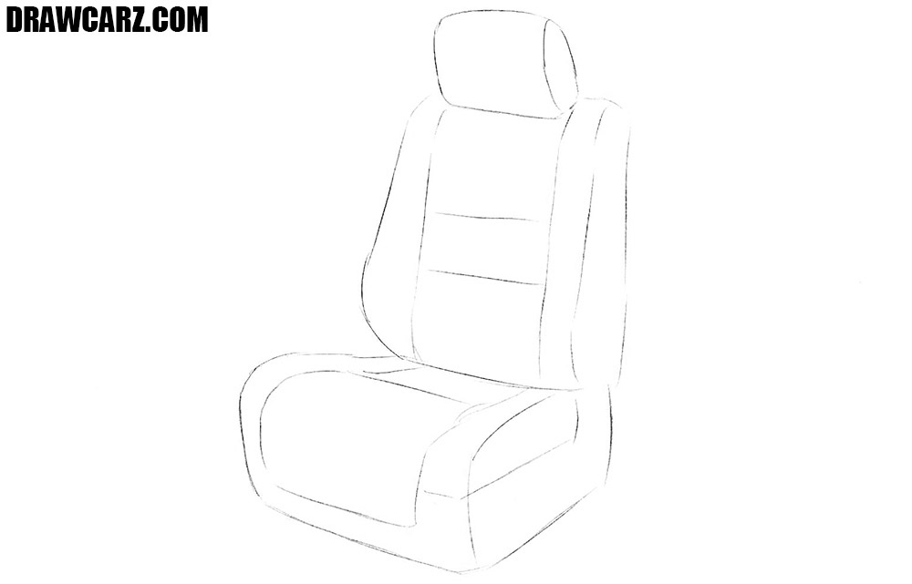 How to draw a seat of a car