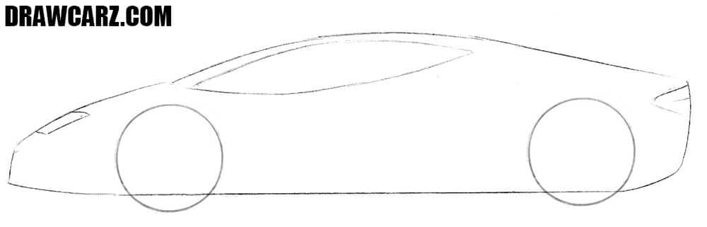 How to sketch a Lamborghini Centenario