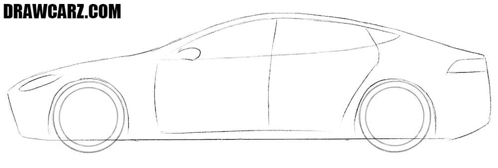 How to draw a Tesla