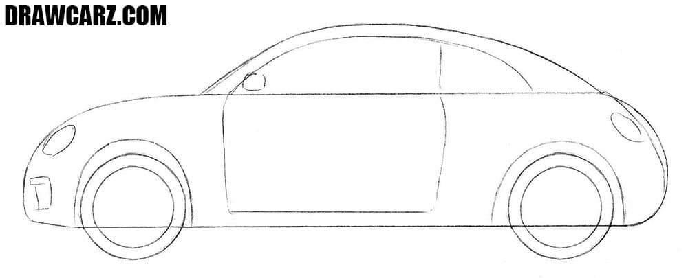 How to draw a Volkswagen car