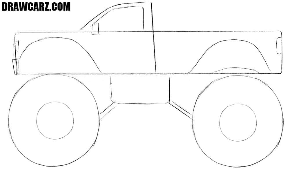 How to draw a cool Monster Truck