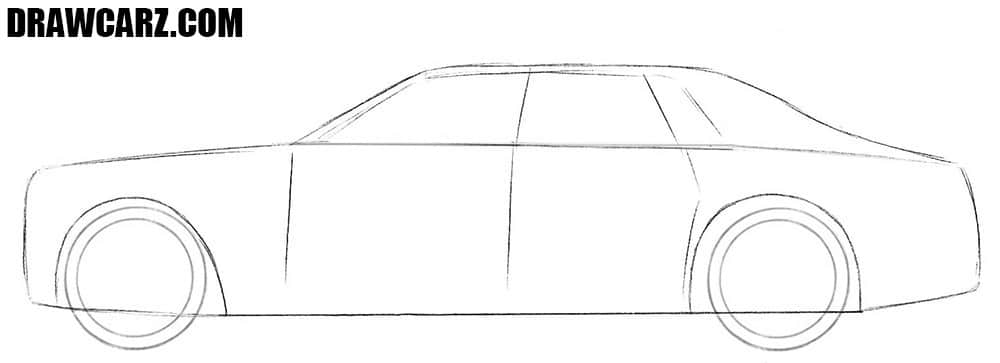 How to draw a realistic Rolls Royce Phantom