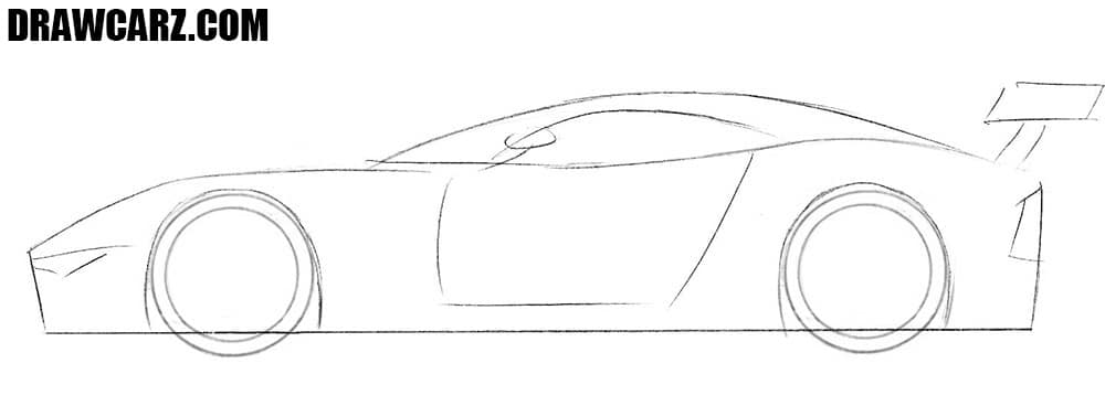How to draw an Aston Martin Vulcan step by step
