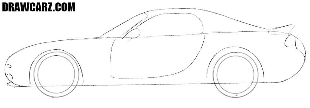 How to sketch a Mazda RX-7