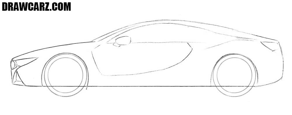 How to draw a BMW i8 easy