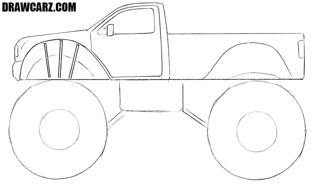 How to draw a Monster Truck easy