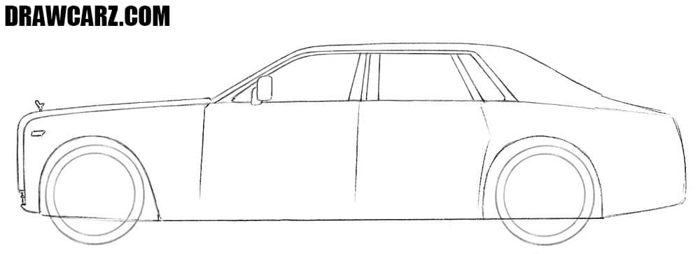 How to draw a Rolls Royce Phantom for beginners
