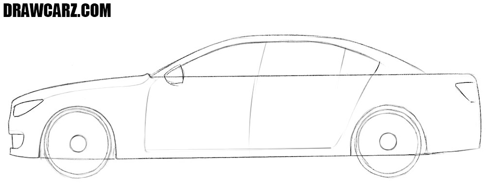 How to draw a car easy method