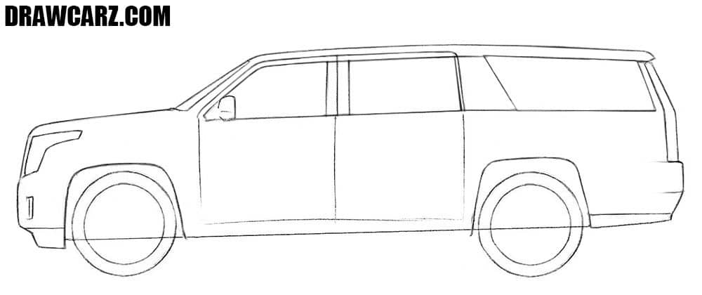 How to draw a Cadillac S.U.V.