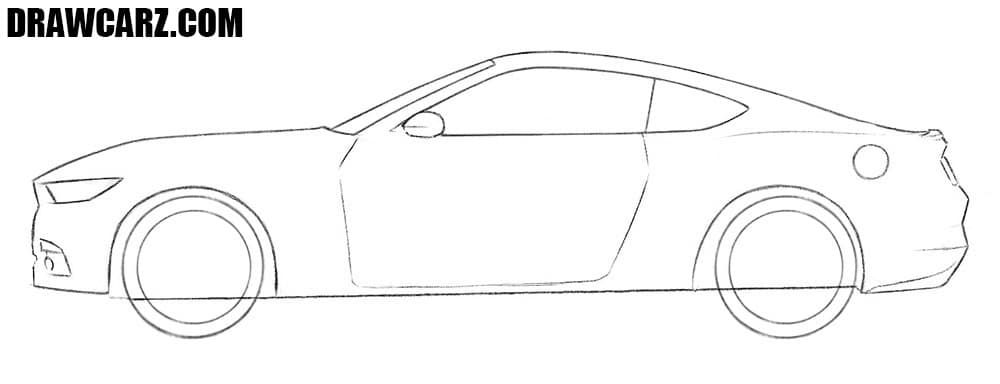 How to draw a Ford Mustang for beginners
