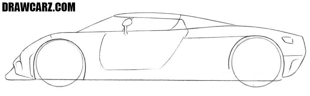 How to draw a Koenigsegg