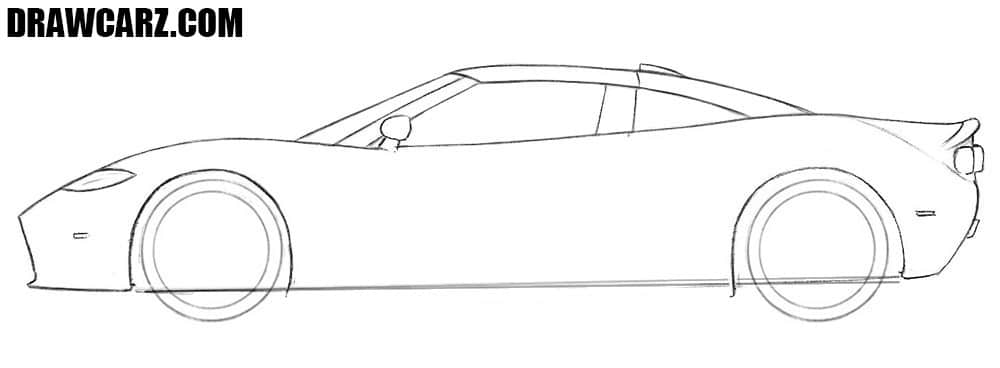 How to draw a Spyker C8 car