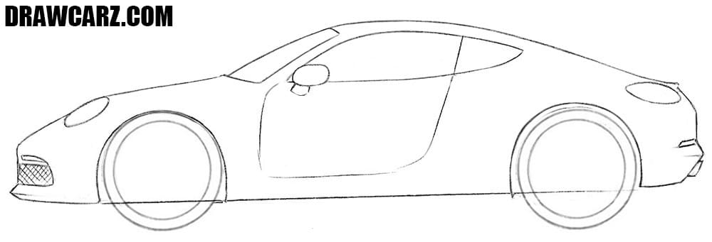 How to draw a cool Sports Car