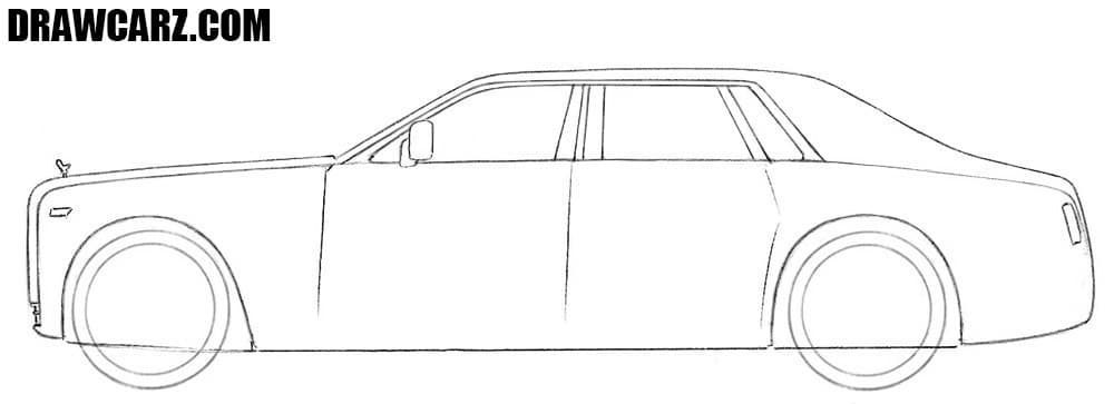 How to draw a luxury car