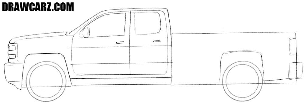 How to draw a realistic Truck