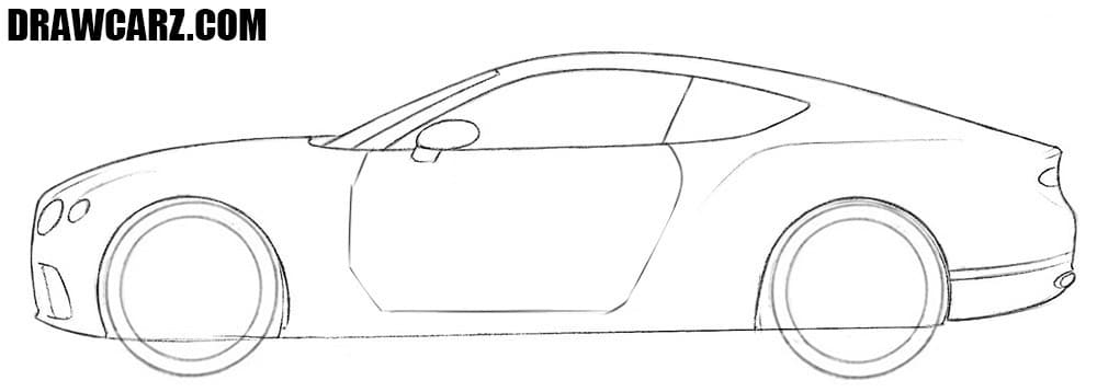 How to sketch a Bentley Continental GT
