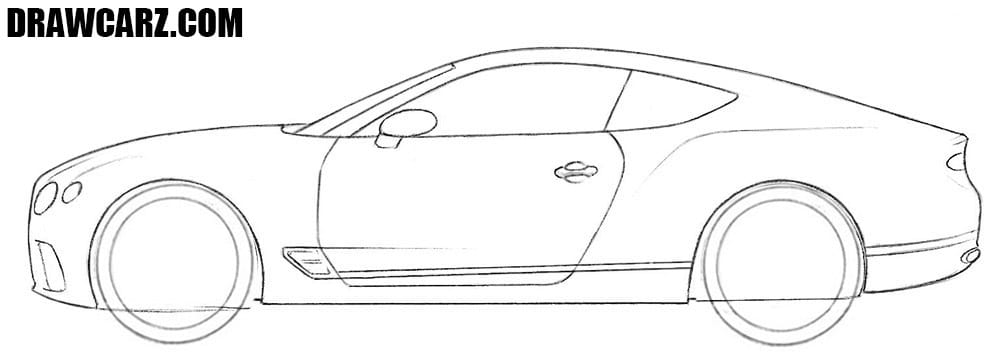 How to draw a Bentley Continental