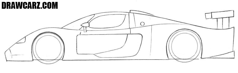 How to draw a Maserati MC12 easy