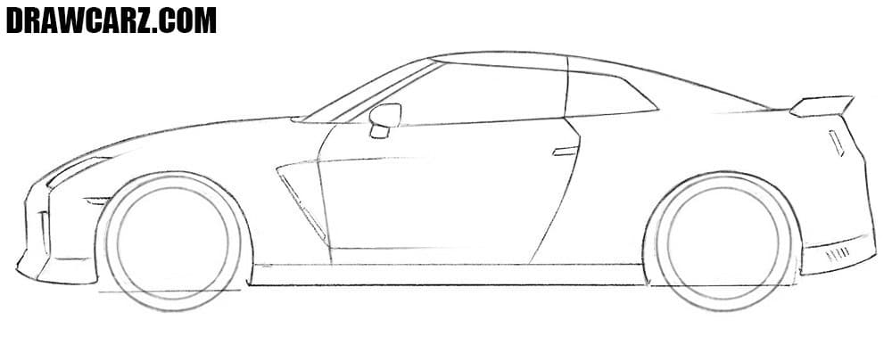 How to draw a Nissan