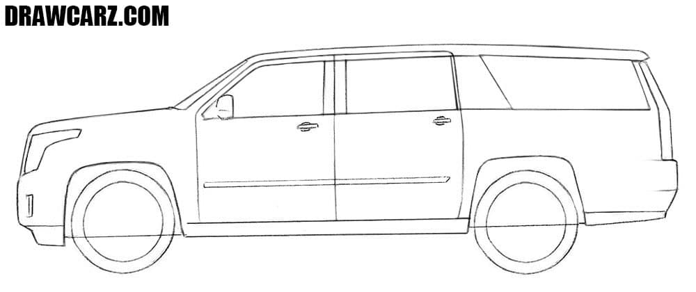 How to sketch a Cadillac Escalade