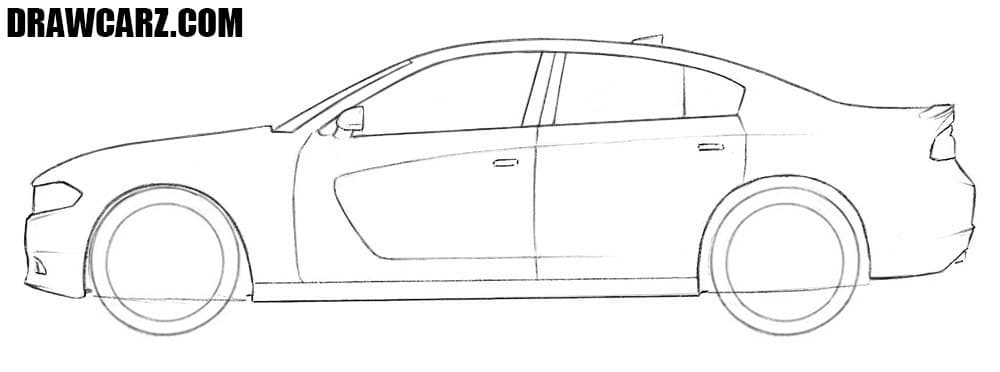 How to sketch a Dodge Charger