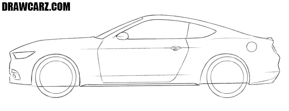 How to sketch a Ford Mustang