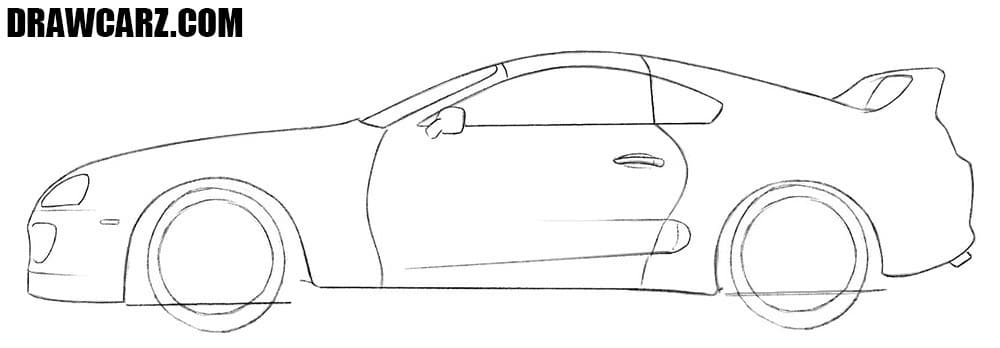 How to sketch a Toyota Supra