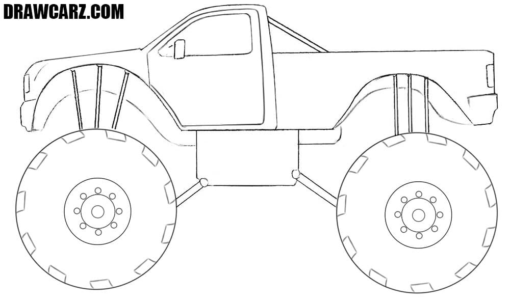 Monster Truck drawing tutorial