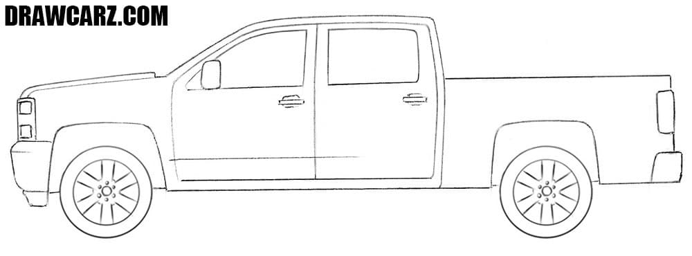 Chevrolet Truck drawing tutorial
