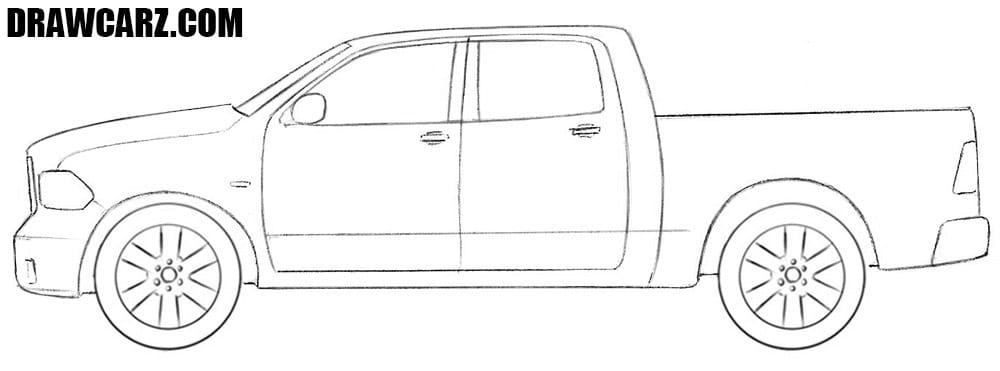 Dodge Ram drawing tutorial