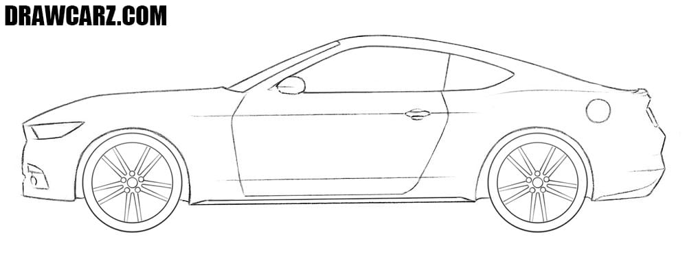 Ford Mustang drawing tutorial