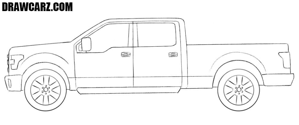 Ford Truck drawing tutorial