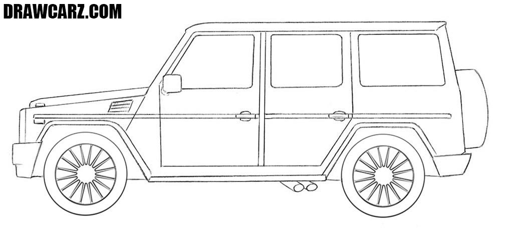 How to draw a Mercedes Gelandewagen
