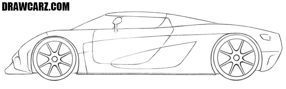 Koenigsegg Regera drawing tutorial