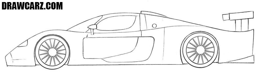 Maserati MC12 drawing tutorial