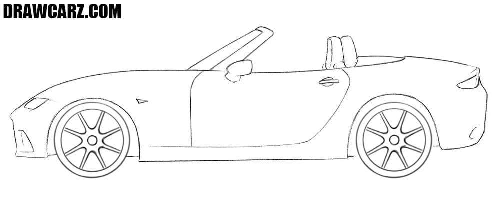Mazda MX-5 drawing tutorial