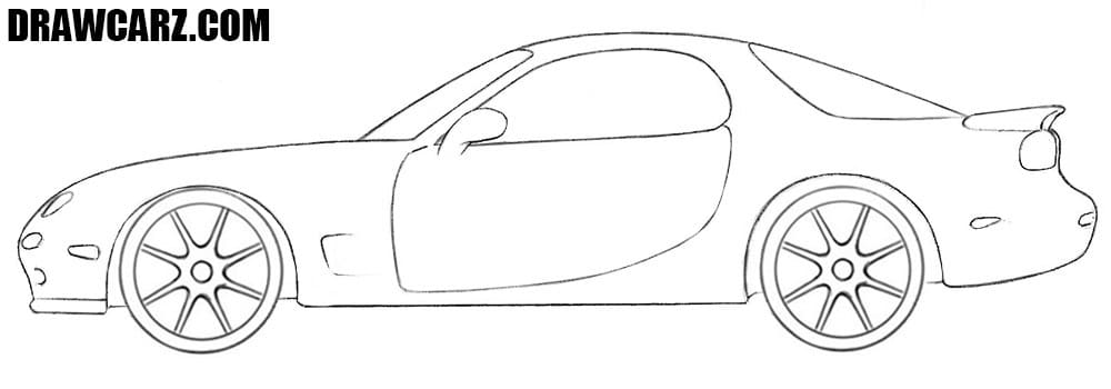 Mazda RX-7 drawing tutorial