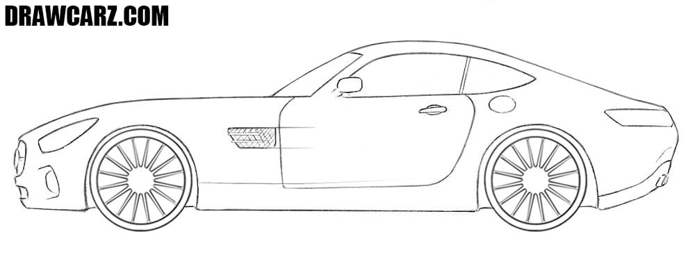 Mercedes-AMG GT drawing tutorial