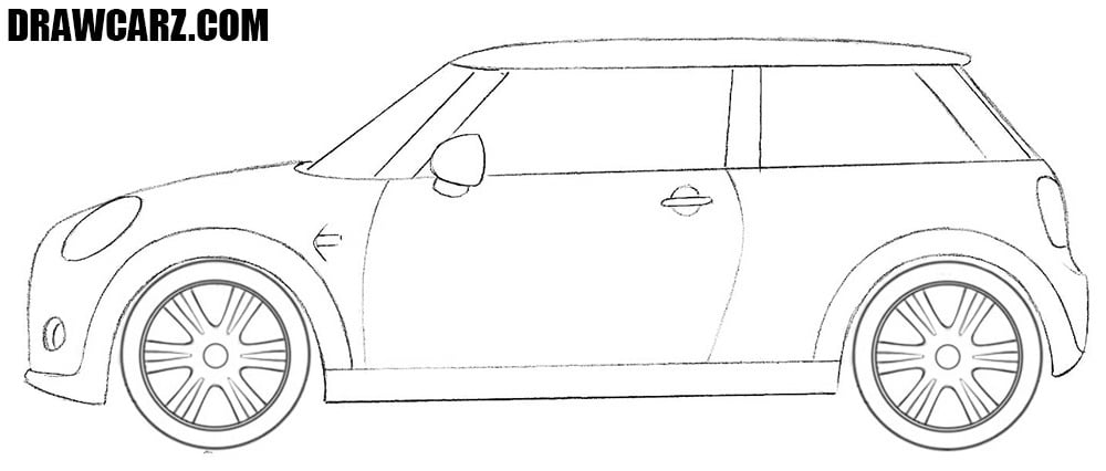 Mini Cooper drawing tutorial