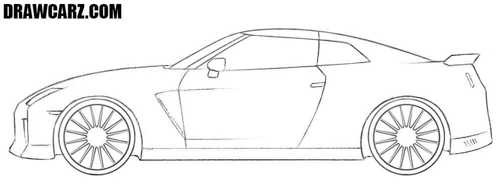 Nissan GT-R drawing tutorial