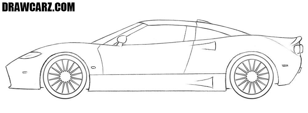 Spyker C8 drawing tutorial