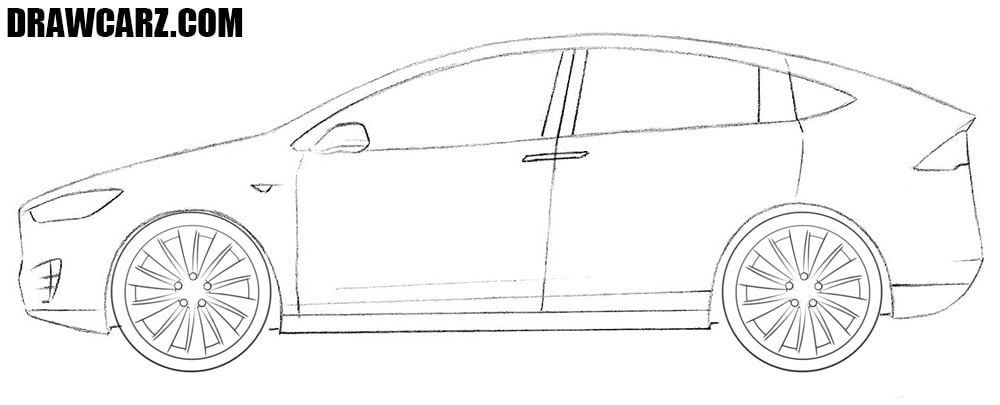 Tesla Model X drawing tutorial