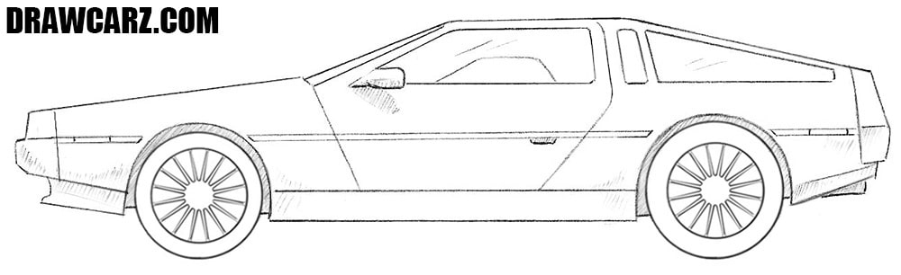 How to draw a Delorean DMC