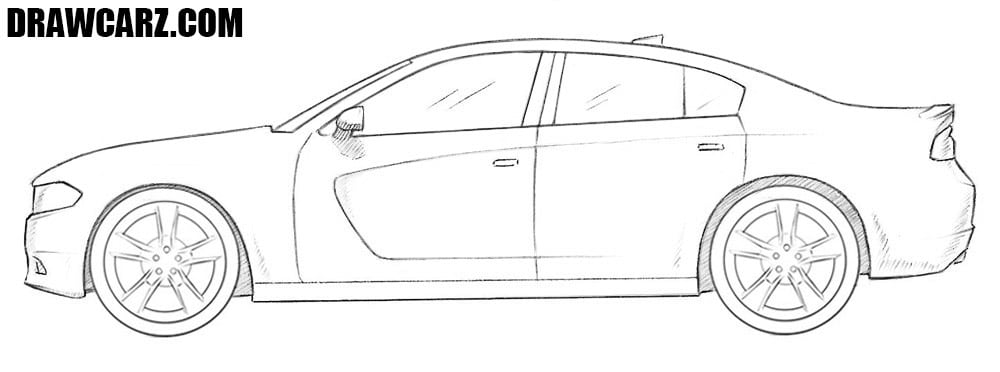 How to draw a Dodge Charger